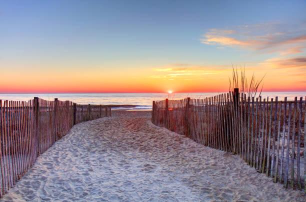 Rehoboth Beach, Delaware Sunrise stock photo