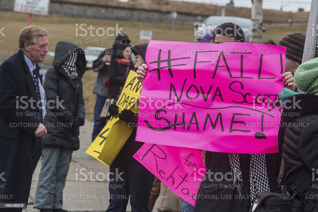 Rehtaeh Parsons Protest stock photo