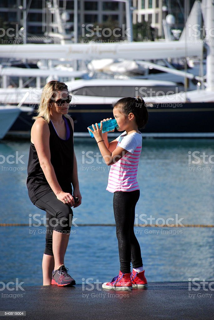 Rehydrating after a Run stock photo