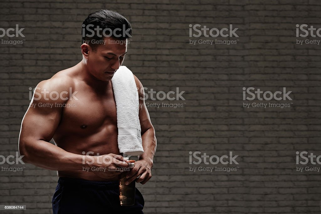 Rehydrating stock photo