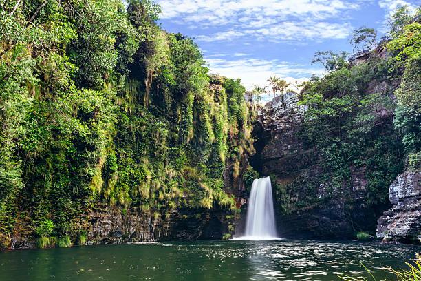 Rei do Prata waterfall at Chapada dos Veadeiros Rei do Prata waterfall at Chapada dos Veadeiros. Alto Paraíso/GO/Brazil. goias stock pictures, royalty-free photos & images