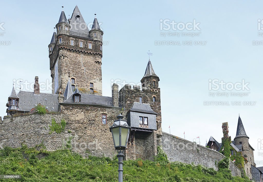 Reichsburg Castle above city of Cochem in Germany royalty-free stock photo