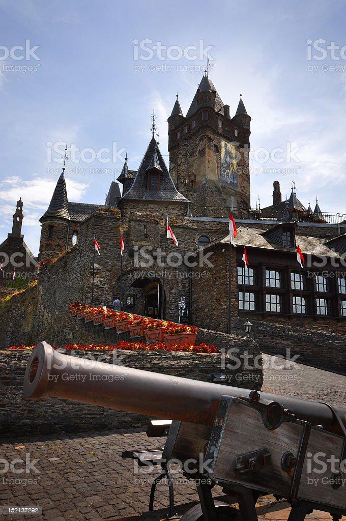 Reichsburg Castle Cochem, Germany stock photo