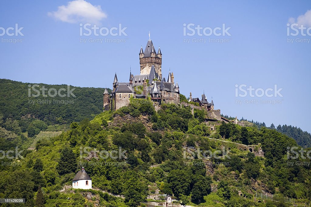 Reichsburg Cochem in the Mosel Valley royalty-free stock photo