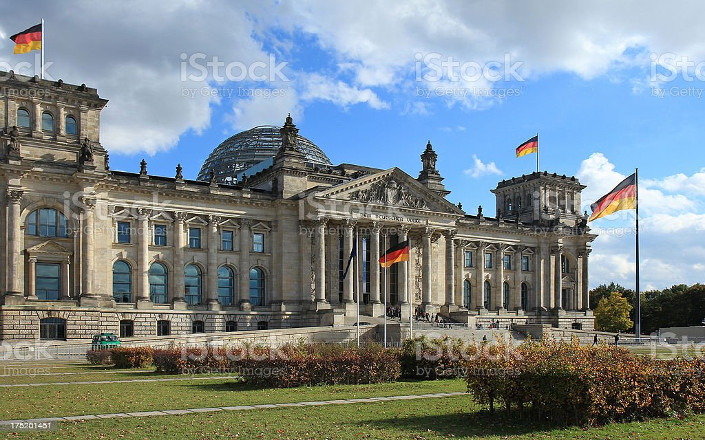 Reichstag and a sunny day in Berlin royalty-free stock photo
