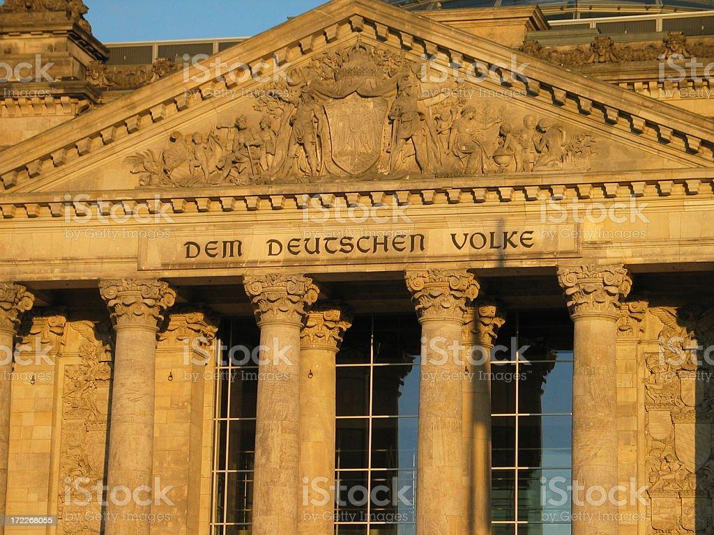 Reichstag Berlin - Dem Deutschen Volke stock photo