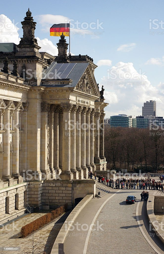 Reichstag Berlin royalty-free stock photo