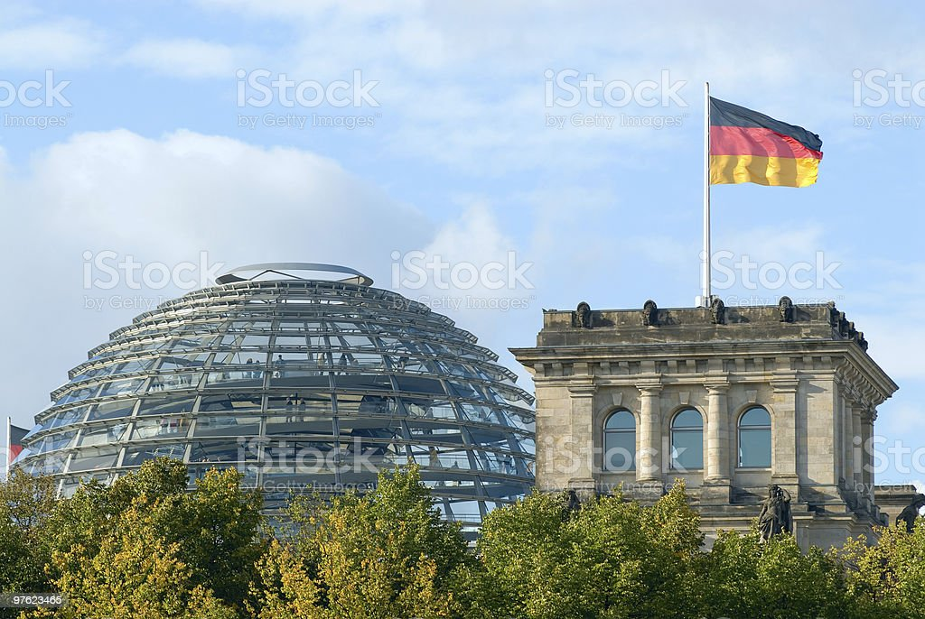 Reichstag Building, Berlin, Germany royalty-free stock photo