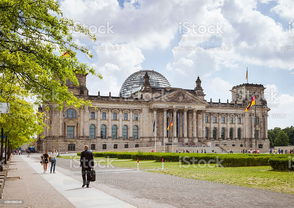Reichstag building from the west royalty-free stock photo