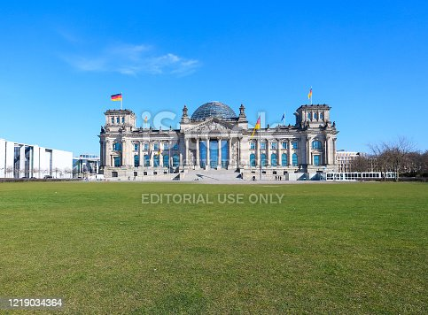 istock Reichstag building in Berlin, Germany 1219034364