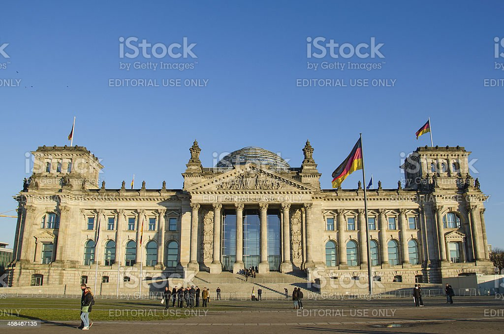 Reichstag (german parliament) building in Berlin, Germany royalty-free stock photo