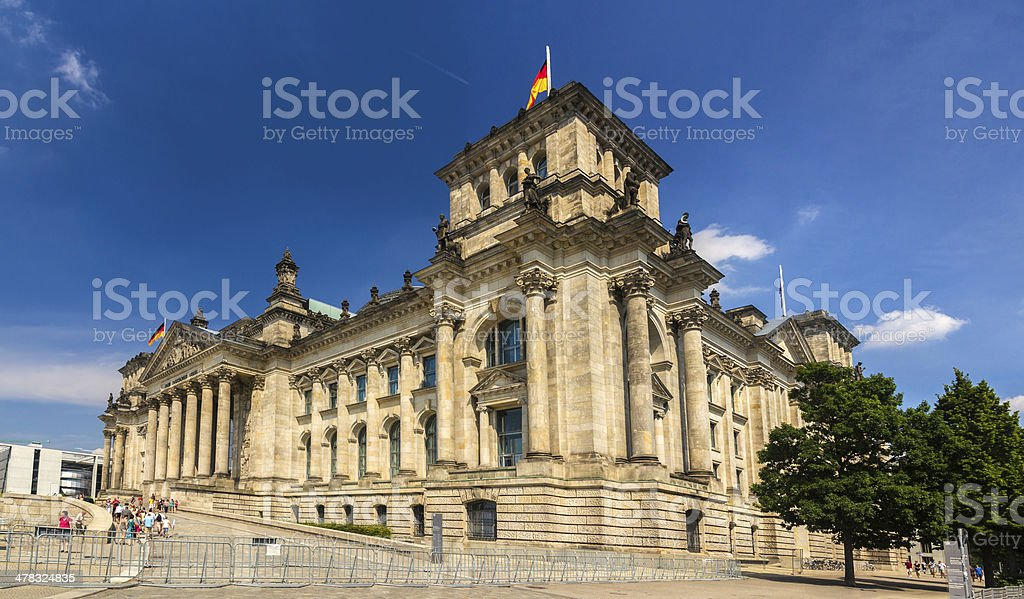 Reichstag building in Berlin, Germany royalty-free stock photo