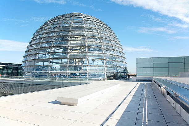 reichstag dome, berlin modern achitecture - cupola stock pictures, royalty-free photos & images