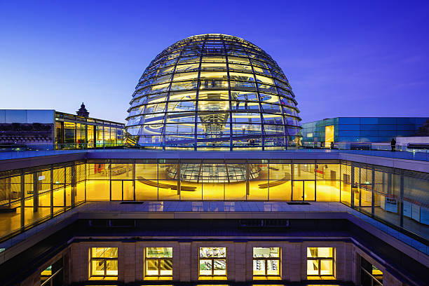 reichstag dome in berlin - cupola stock pictures, royalty-free photos & images