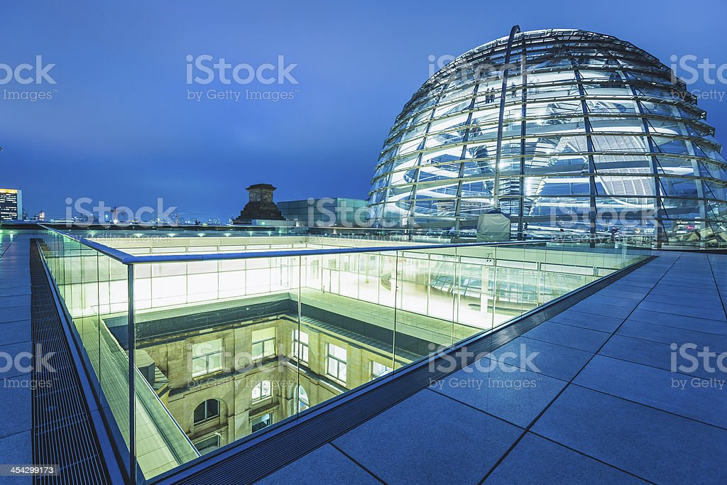 Reichstag Dome in Berlin royalty-free stock photo