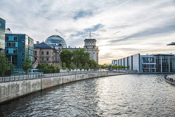 reichstag in berlin, germany - cupola stock pictures, royalty-free photos & images