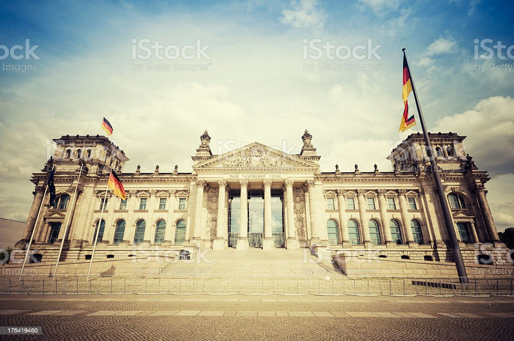 Reichstag in Berlin - Germany stock photo