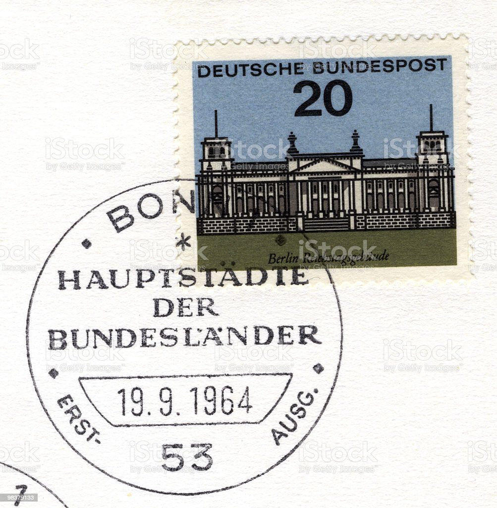 Reichstag stamp royalty-free stock photo