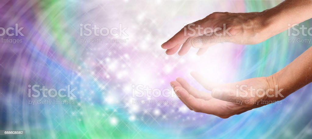 Reiki Healing Energy stock photo