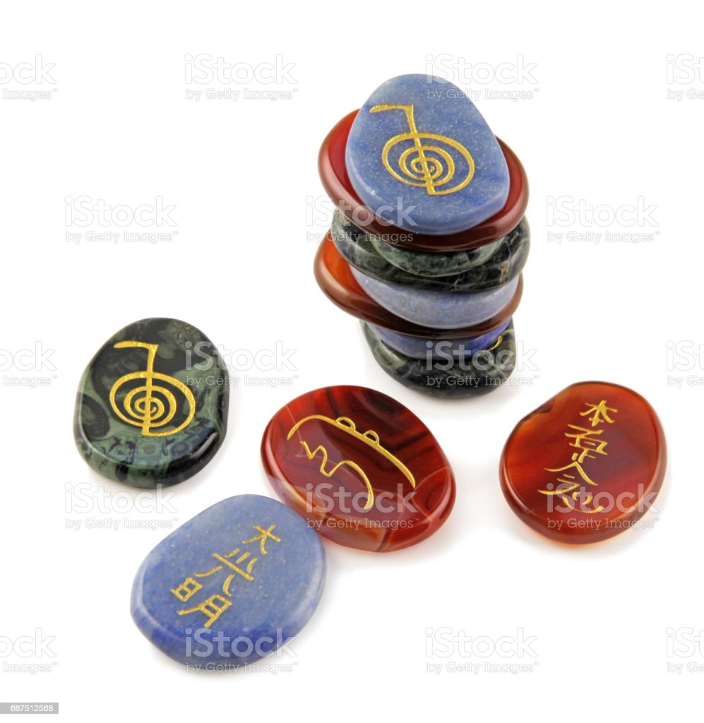 Reiki Meditation Stones stock photo