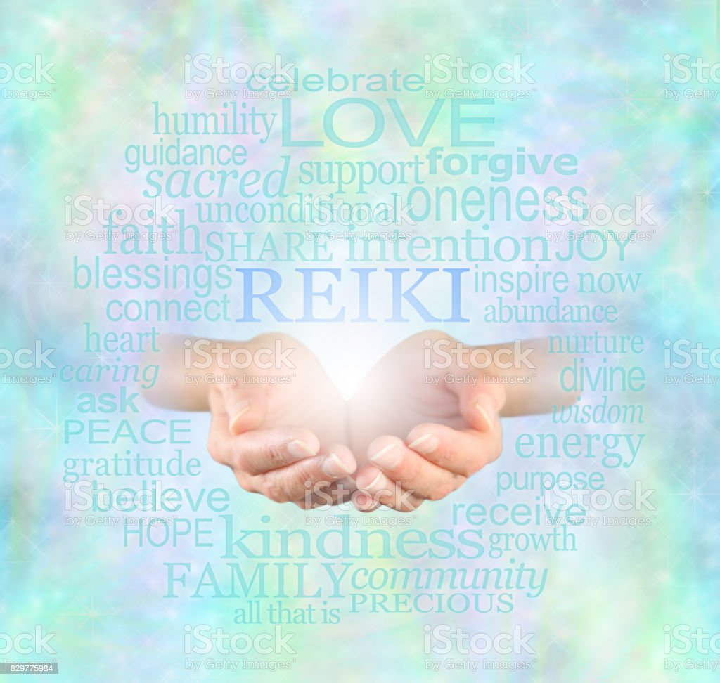 Reiki Share stock photo