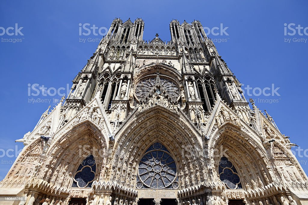 Reims Cathedral Facade royalty-free stock photo