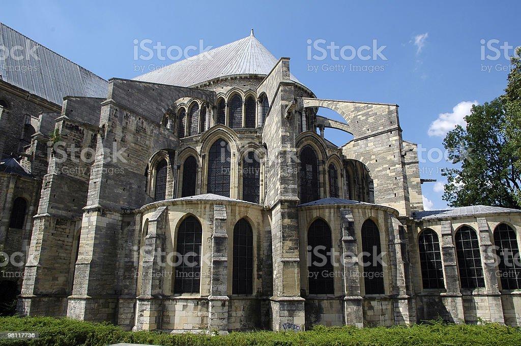 산악지대 (앨코브, 프랑스)-고트어 교회 익스테리어 royalty-free 스톡 사진