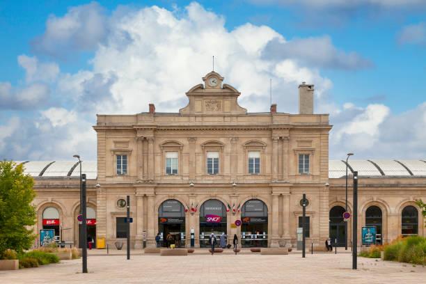 Reims railway station stock photo