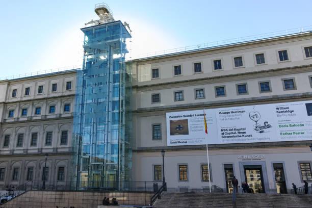 Reina Sofia Ulusal Sanat Merkezi Müzesi (Museo Nacional Centro de Arte Reina Sofía) Madrid şehir, Ispanya stok fotoğrafı
