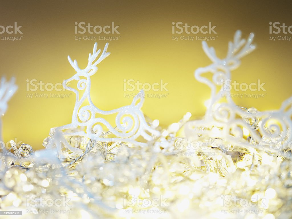 Reindeer Christmas ornaments royalty-free stock photo
