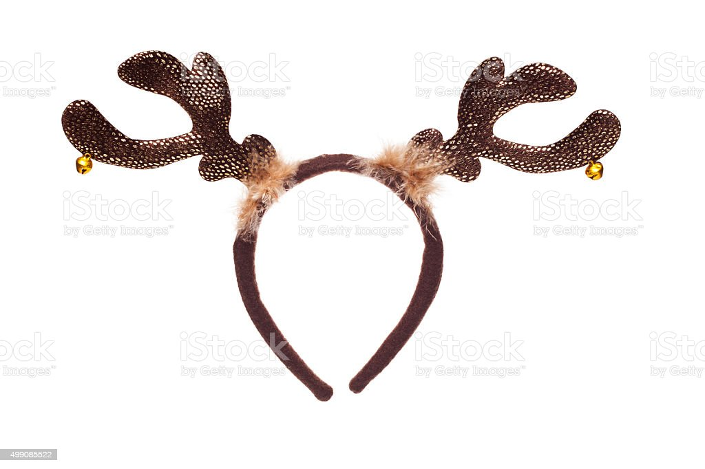 reindeer horns stock photo