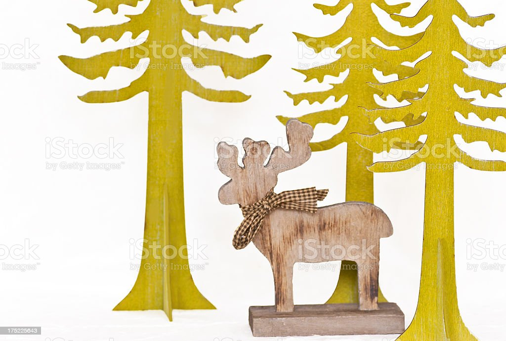 Reindeer in Forest royalty-free stock photo