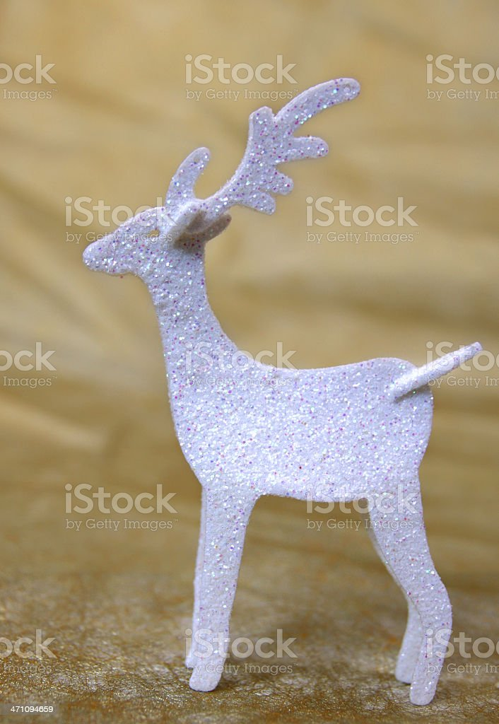 Rudolph on Gold royalty-free stock photo