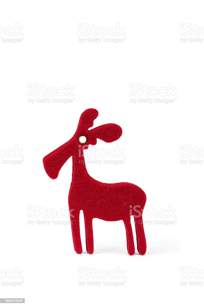 Rudolph the red-nosed reindeer royalty-free stock photo