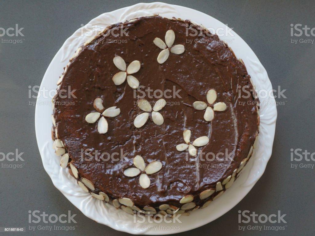 Reine de Saba (Queen of Sheba Cake) stock photo