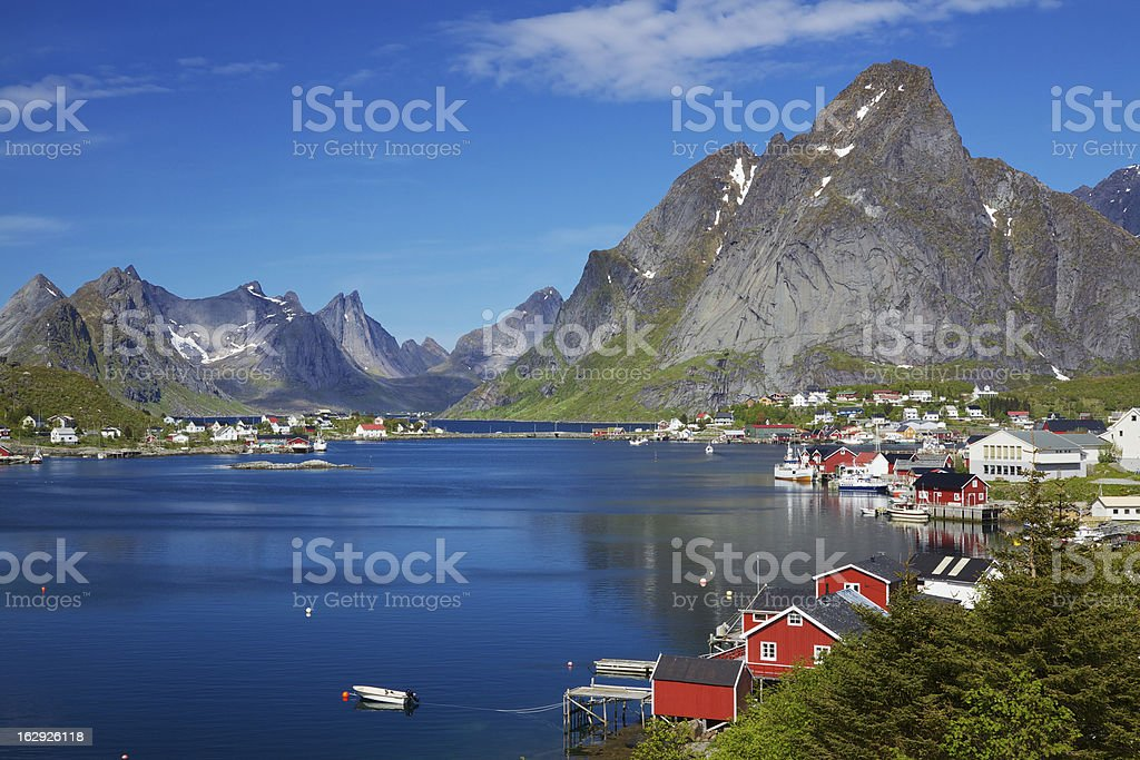 Reine in Norway stock photo