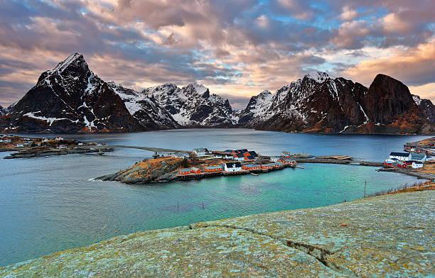 Ilhas Lofoten Reine - foto de acervo