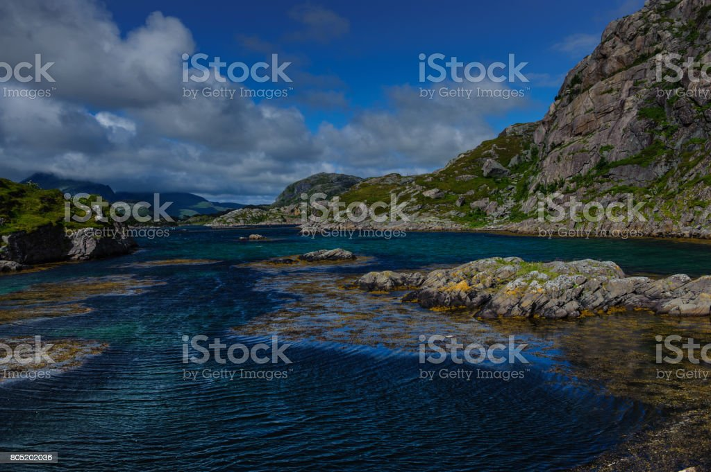 Reine on the Lofoten stock photo