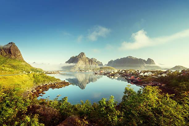 Reine Village, Lofoten Islands, Norway stock photo