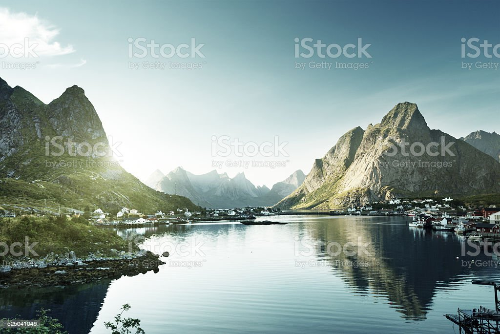 Reine Village, Lofoten Inseln, Norwegen – Foto