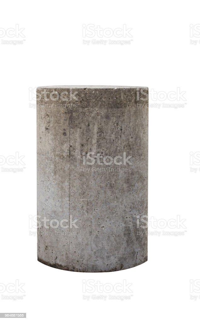 Reinforced concrete pylon royalty-free stock photo