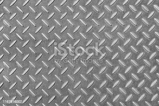 Reinforced metal sheet as abstract background.