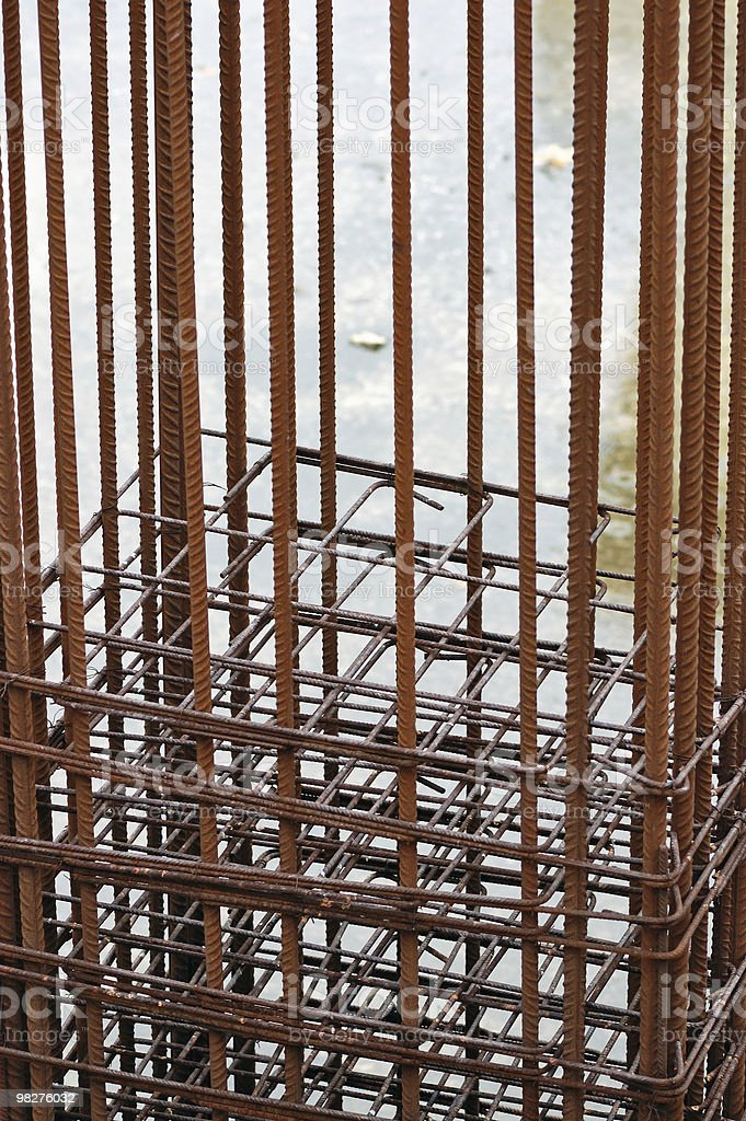 reinforcement bars royalty-free stock photo
