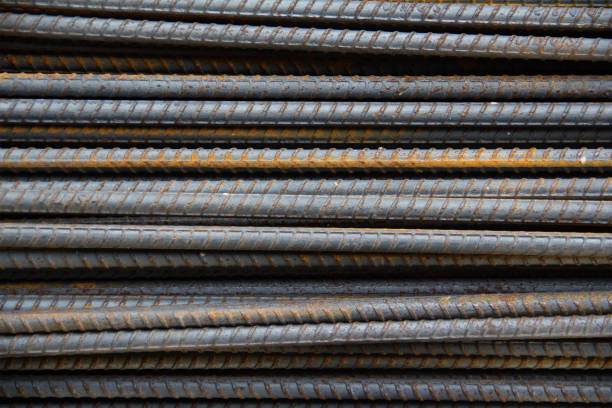 Reinforcement steel bars, metal bars background Reinforcement steel bars, metal bars background rod stock pictures, royalty-free photos & images
