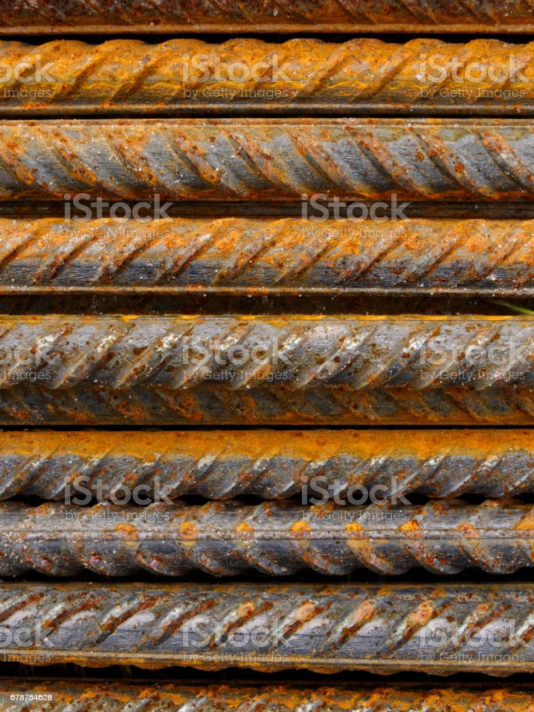 Reinforcement steel bars royalty-free stock photo