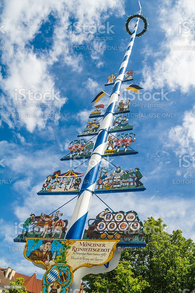 Reinheitsgebot May Pole stock photo