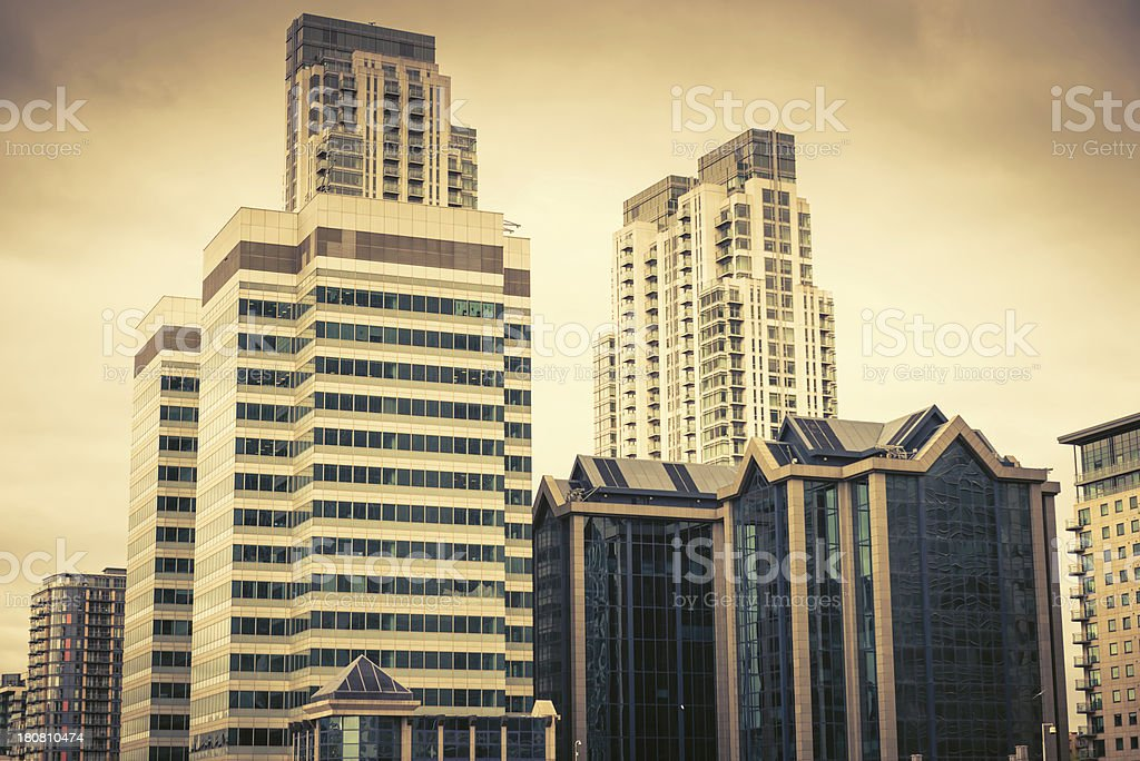 reisdential building on canary wharf royalty-free stock photo