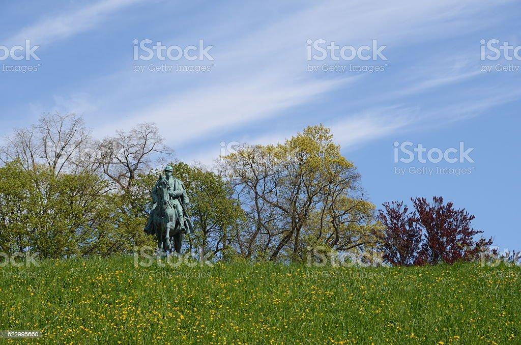 Reiterstatue stock photo