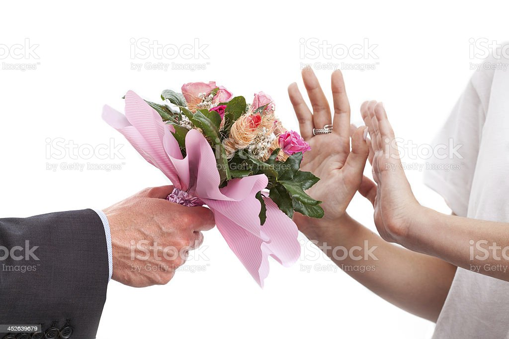 Rejected bunch of flowers royalty-free stock photo