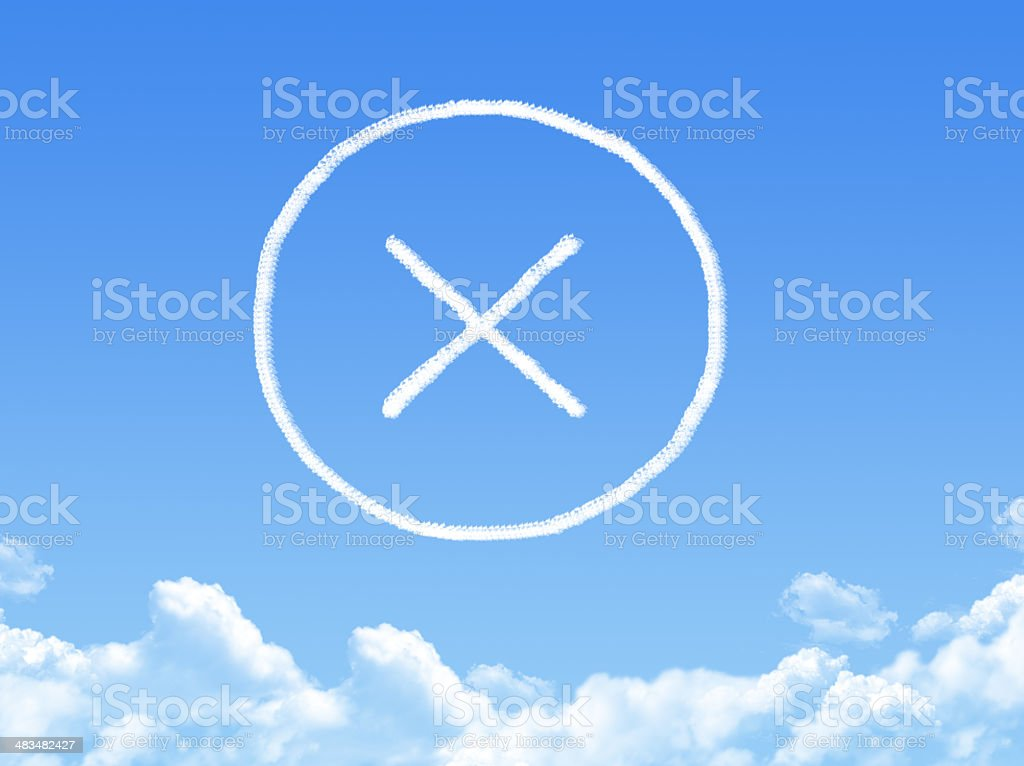rejected cloud shape royalty-free stock photo